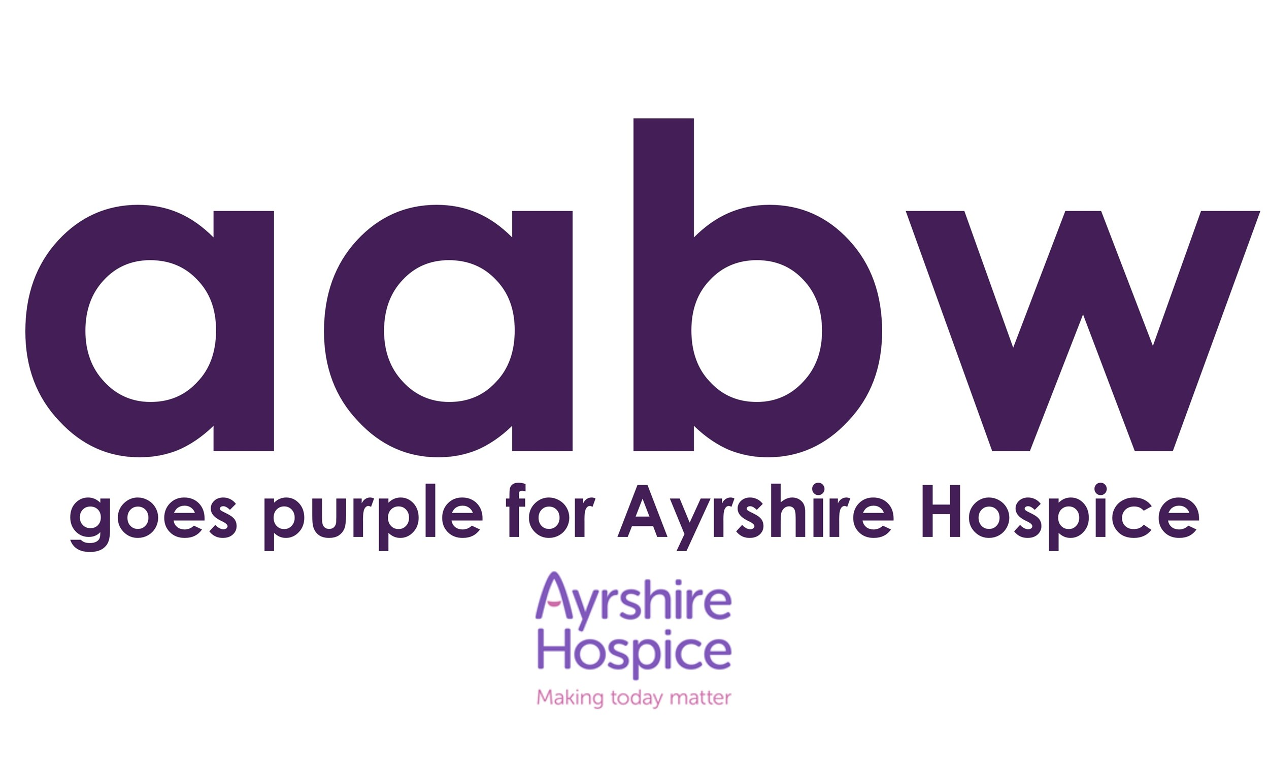 AABW Goes Purple for Ayrshire Hospice