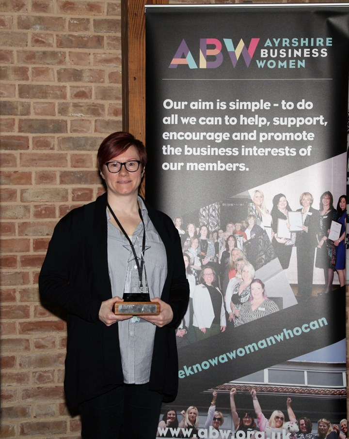 Sarah Hunter Wins Spirit of ABW Award 2018